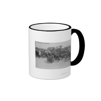 Motorcycles Requisitioned, Paris Photograph Ringer Coffee Mug
