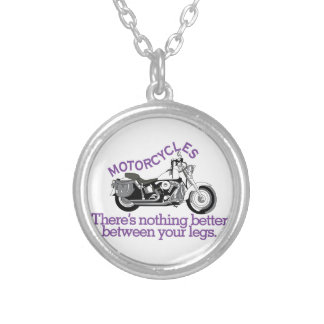 Motorcycles Silver Plated Necklace