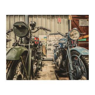 Motorcycles Wood Print