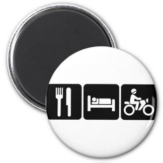 Motorcycling 2 Inch Round Magnet