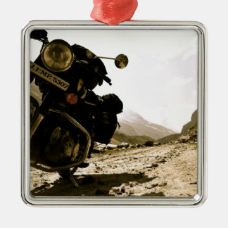 Motorcycling in Ladakh Metal Ornament