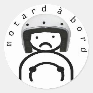 MOTORCYCLIST on BOARD Sticker