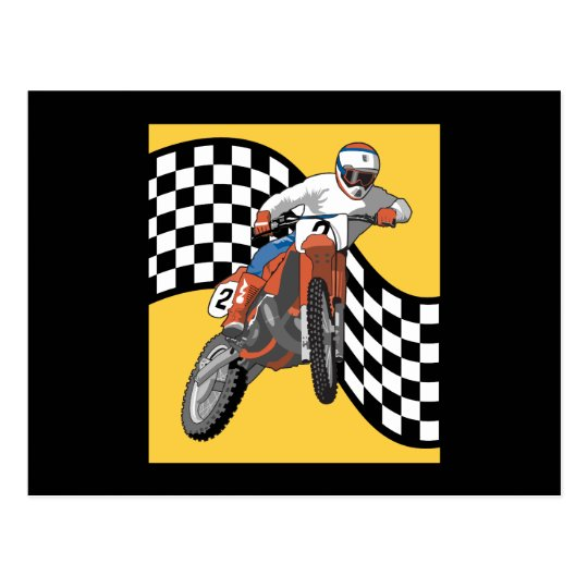 Motorcyclist Postcard