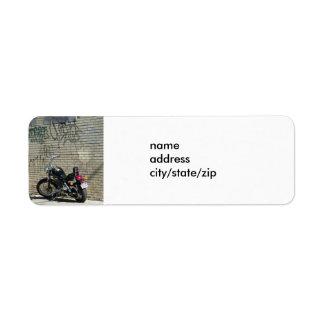 MOTORCYLE / GRAFFITI LABEL RETURN ADDRESS LABEL