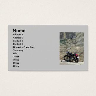 MOTORCYLE / GRAFFITI WALL BUSINESS CARDS