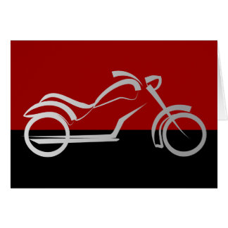 motorcyle motorbike bike biker greeting card