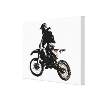 Motorcyle Sport Achievement Motivational Canvas Print
