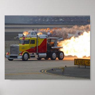 Motores de los camiones póster