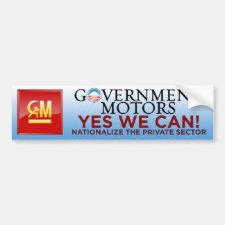 Motores del gobierno - podemos sí pegatina para el pegatina para auto