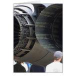 Motores grandes de los jets felicitación