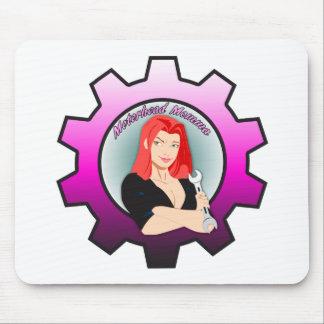 Motorhead Momma - Red Head Mouse Pad