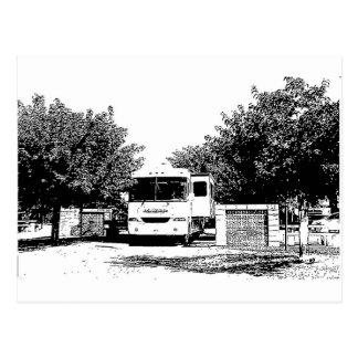 Motorhome en parque de rv postal