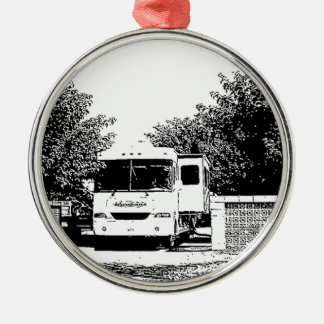 Motorhome in RV Park Metal Ornament