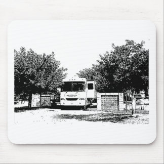 Motorhome in RV Park Mouse Pad