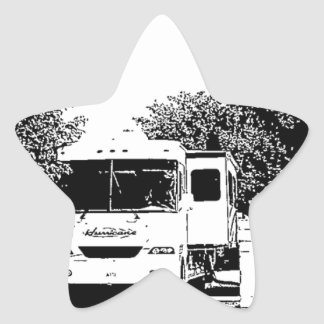 Motorhome in RV Park Star Sticker
