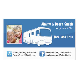 Motorhome RV Couple Cards Business Card