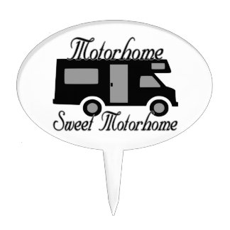 Motorhome Sweet Motorhome RV Cake Topper