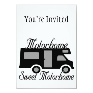 Motorhome Sweet Motorhome RV Card
