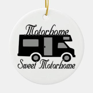 Motorhome Sweet Motorhome RV Ceramic Ornament