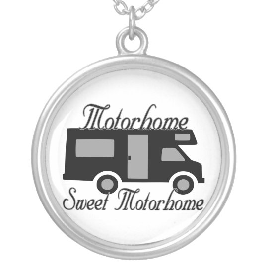 Motorhome Sweet Motorhome RV Silver Plated Necklace