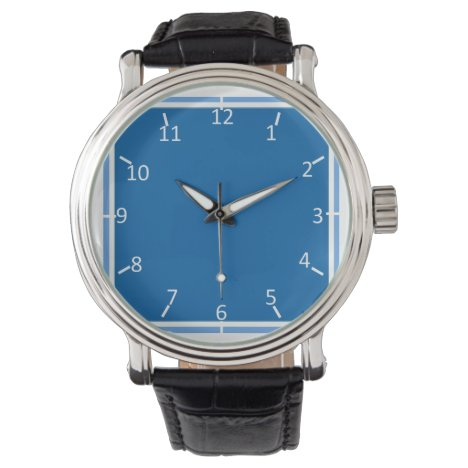 Motoring Blue and White Wrist Watch