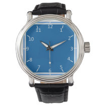 Motoring Blue and White Wrist Watches