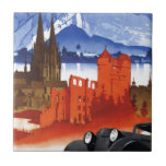 Motoring in Germany Car Vintage Travel Small Square Tile