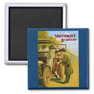 Motorist Cigars Advertisement - Vintage 2 Inch Square Magnet