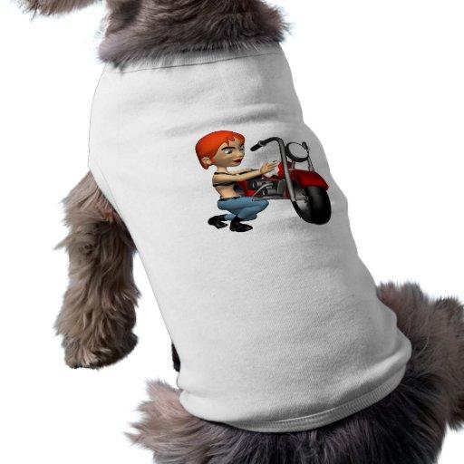 Motorista 2 de la mujer ropa perro