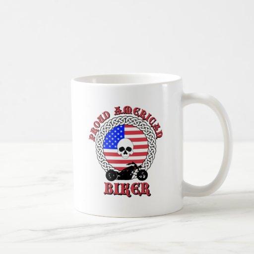 Motorista americano orgulloso taza