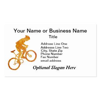 Motorista anaranjado de oro de la montaña tarjetas de visita