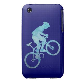 Motorista azul fresco de la montaña funda para iPhone 3 de Case-Mate