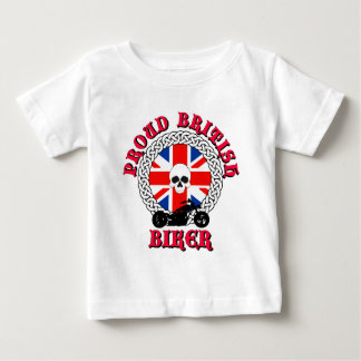 Motorista británico orgulloso playera de bebé