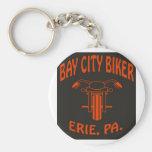 Motorista de Bay City (BOTÓN del LLAVERO)