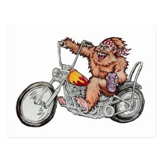 Motorista de Bigfoot Tarjeta Postal