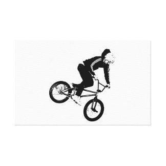 Motorista de BMX Impresion En Lona