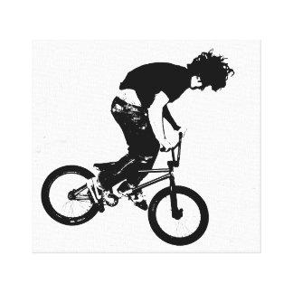 Motorista de BMX Lona Estirada Galerías
