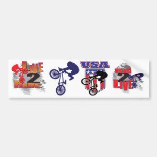 Motorista de BMX Pegatina Para Auto