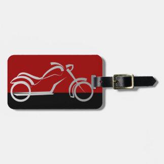 motorista de la bici de la moto del motorcyle etiqueta para equipaje