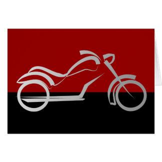 motorista de la bici de la moto del motorcyle tarjeta de felicitación