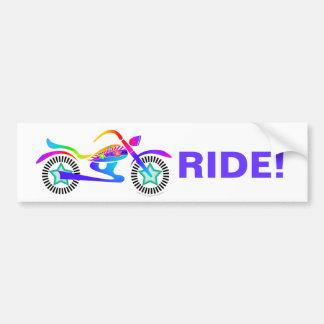 Motorista de la bici de la motocicleta de la pegat pegatina para auto