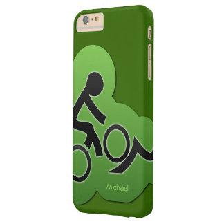 Motorista de la bicicleta de la montaña funda de iPhone 6 plus barely there