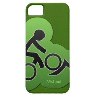 Motorista de la bicicleta de la montaña iPhone 5 carcasa