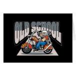 Motorista de la escuela vieja tarjeta