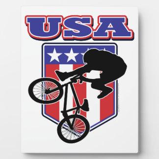 Motorista de los E E U U BMX Placas Con Foto