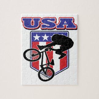 Motorista de los E.E.U.U. BMX Puzzle