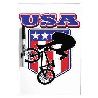 Motorista de los E.E.U.U. BMX Tablero Blanco
