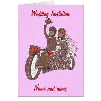 Motorista de los rosas rojos, o invitaciones de bo tarjeta