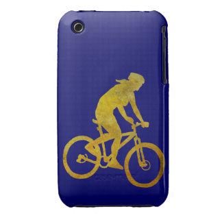 Motorista de oro de la mujer carcasa para iPhone 3