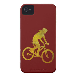Motorista de oro de la mujer iPhone 4 carcasas